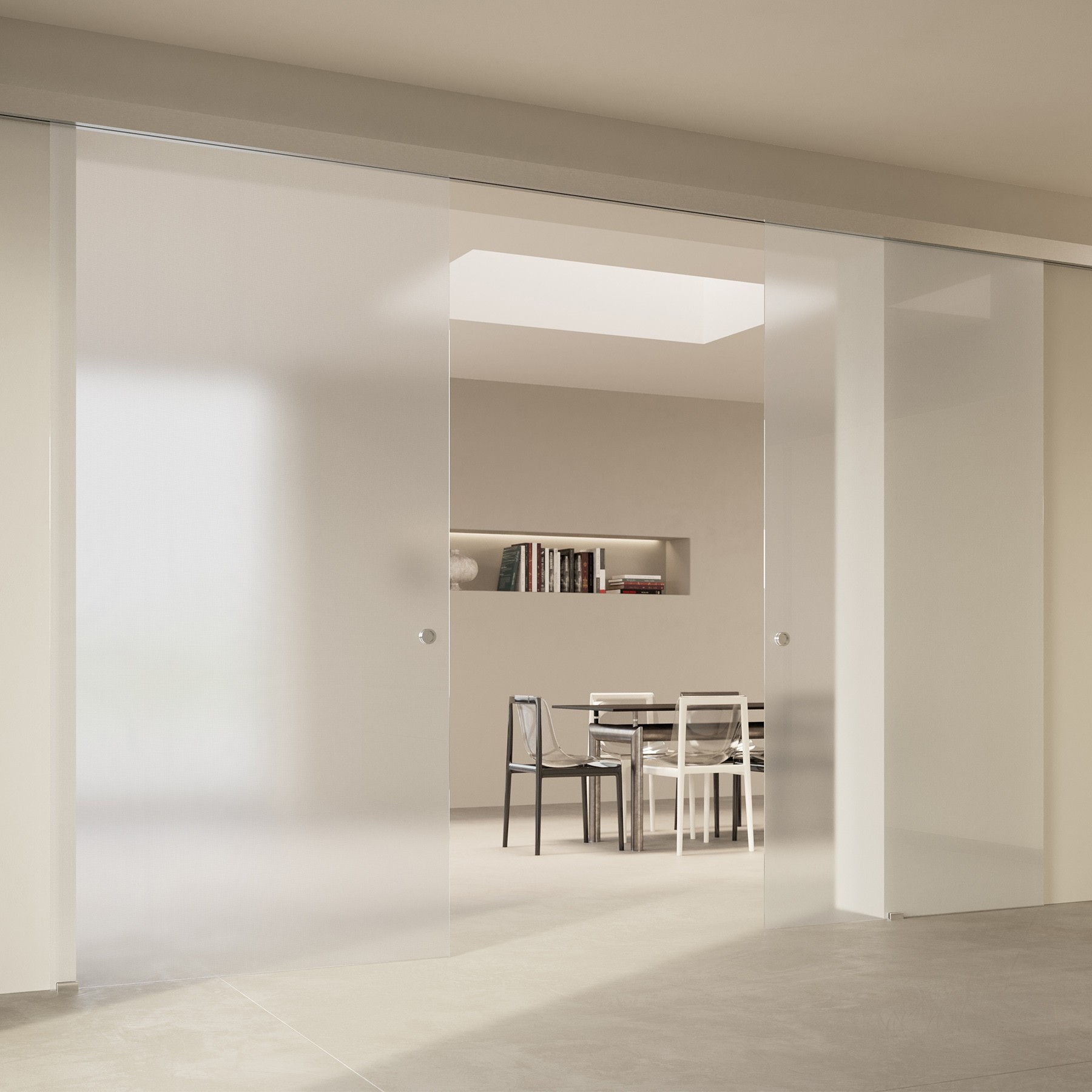 Scenario Visio with Point frosted extraclear glass