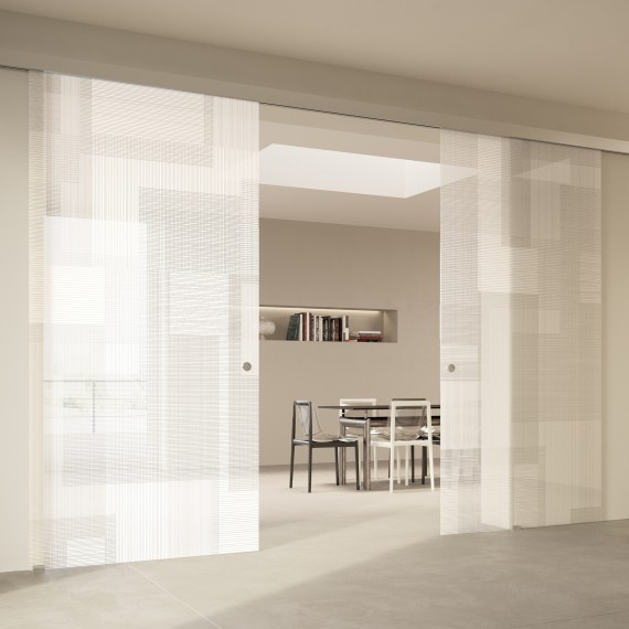 Scenario Visio with BIT 03 satinato extrachiaro bianco glass