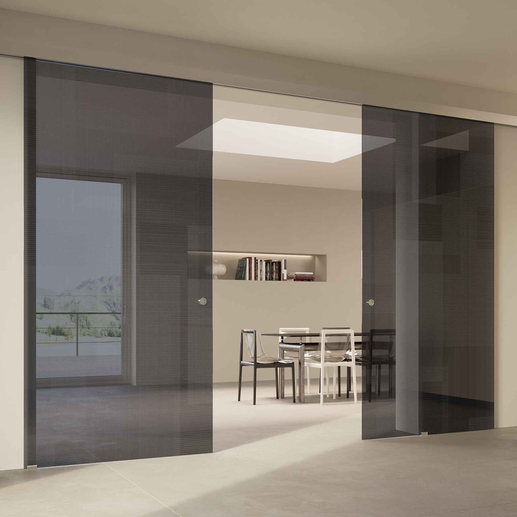 Scenario Visio with BIT 03 trasparente grigio glass