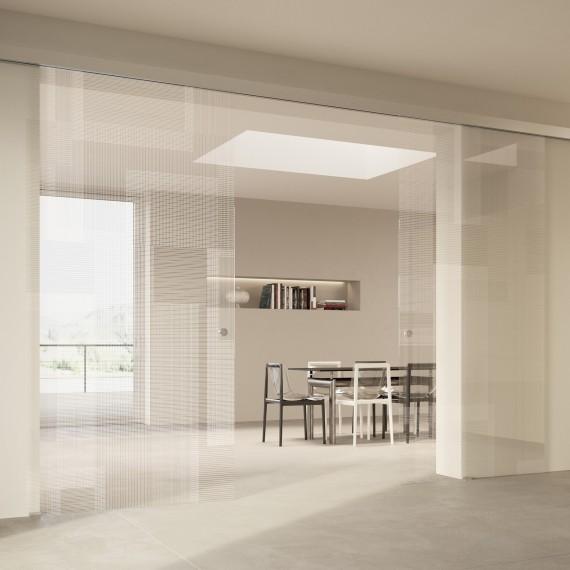 Scenario Visio with BIT 03 trasparente extrachiaro bianco glass