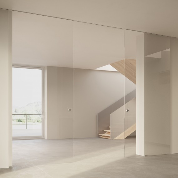 Scenario Visio Up with Transparent extraclear glass