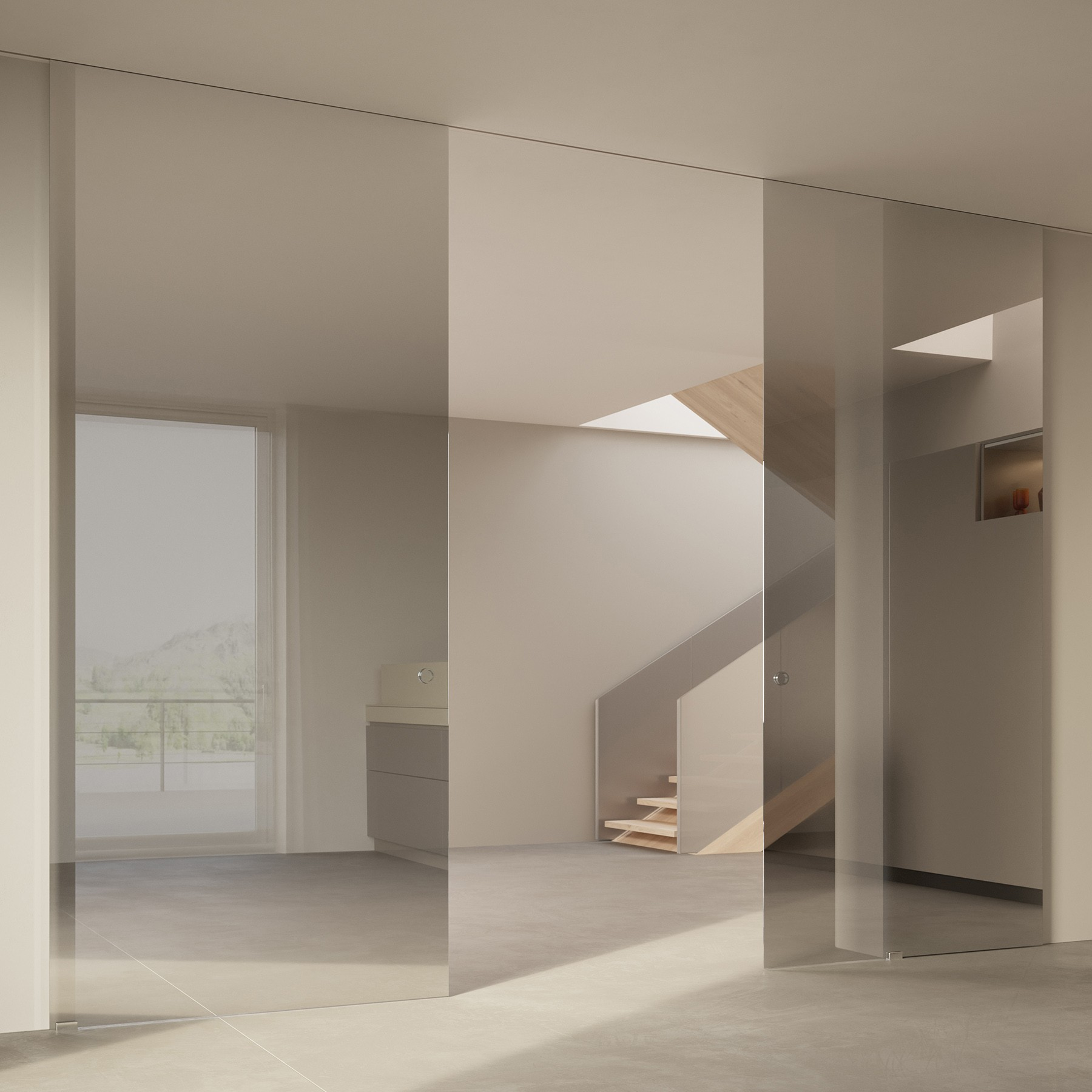 Scenario Visio Up with Reflecting grigio glass