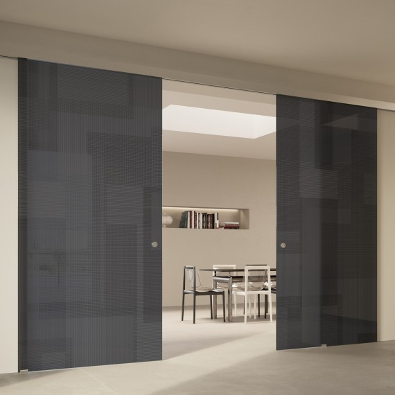 Scenario Visio Up with BIT 03 satinato grigio glass