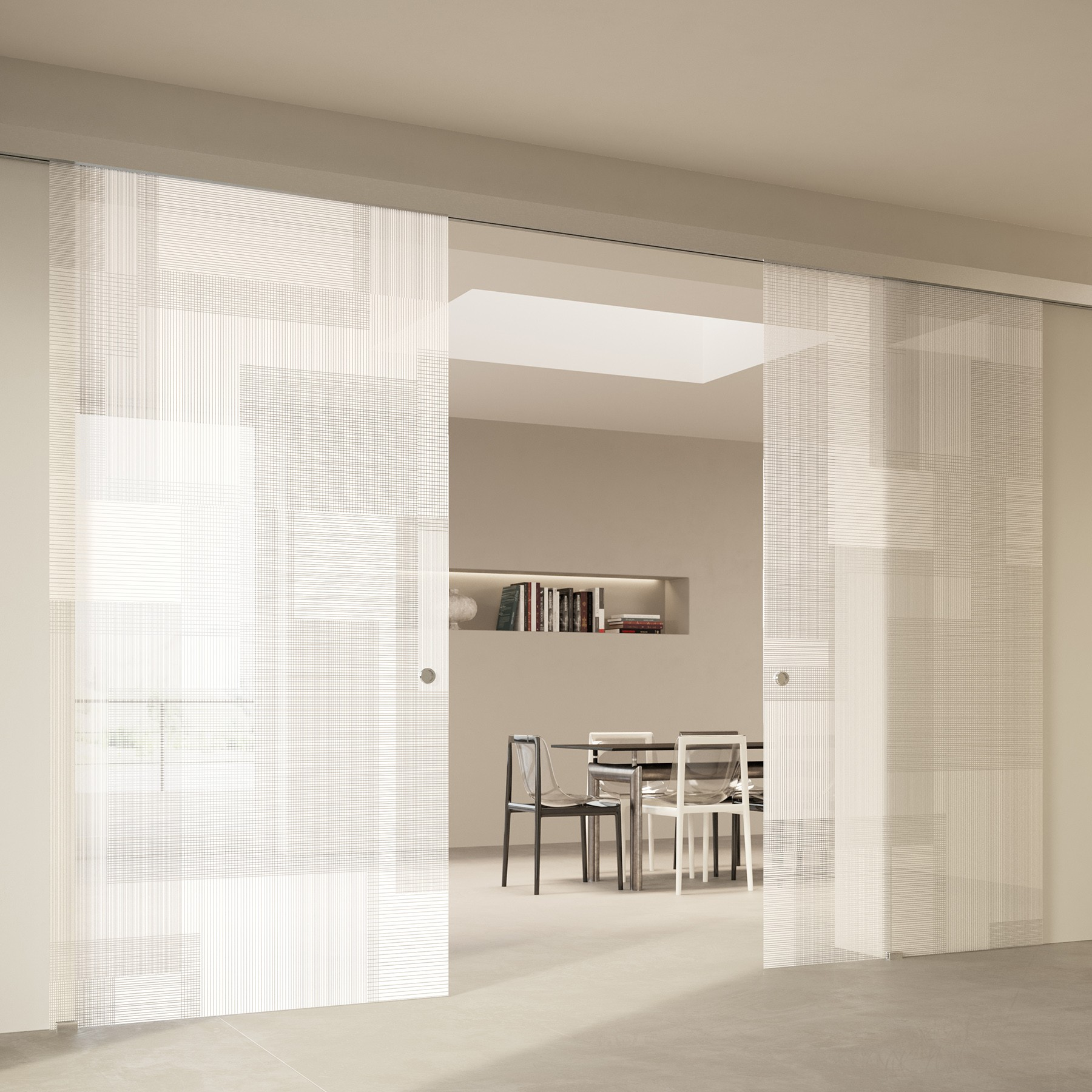 Scenario Visio Up with BIT 03 satinato extrachiaro bianco glass