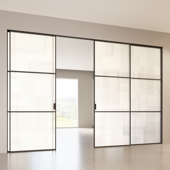 Scenario Delineo / 2 with BIT 03 satinato extrachiaro bianco glass