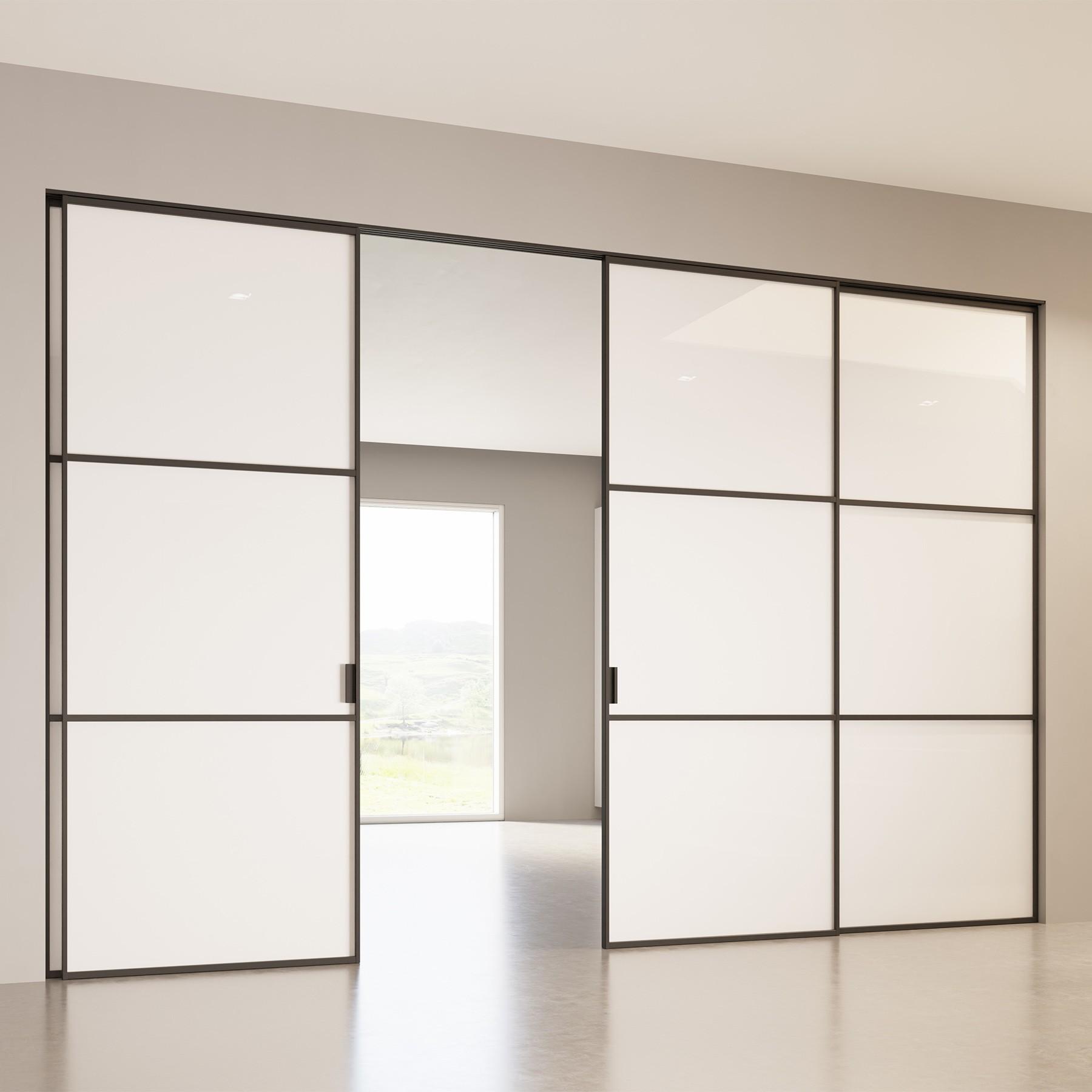 Scenario Delineo / 2 with Glossy white glass