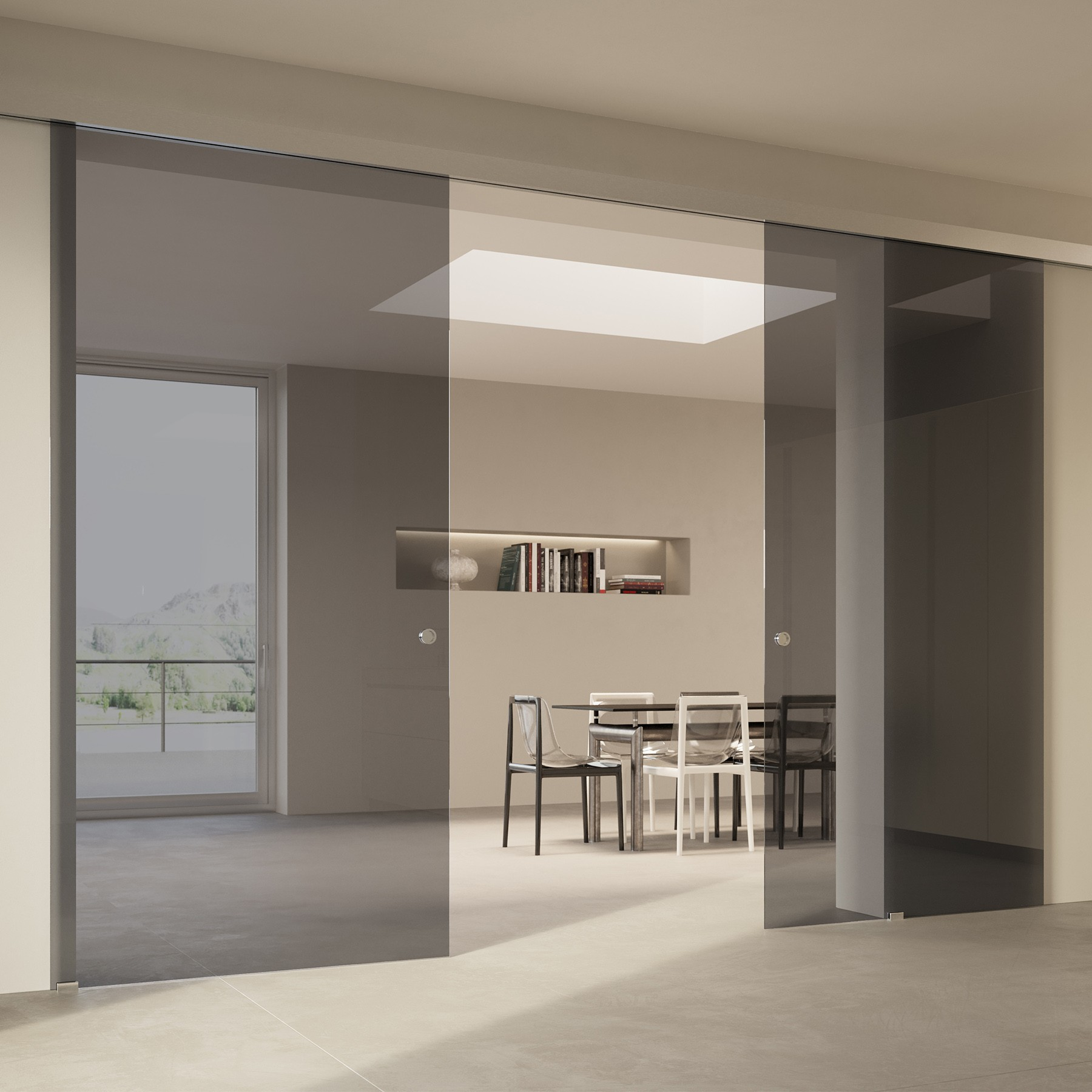 Scenario Visio with Transparent grigio glass