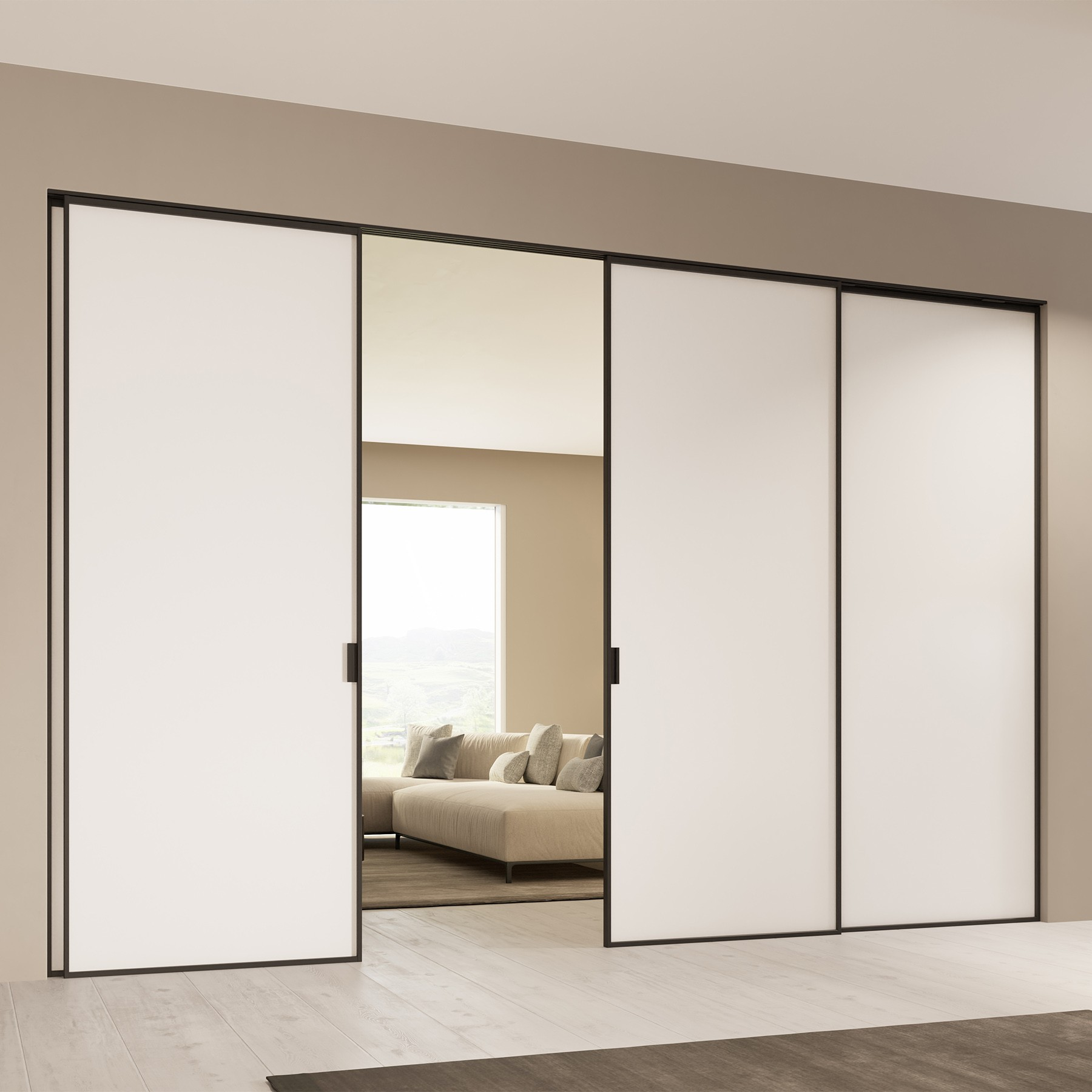 Scenario Delineo with Frosted white glass