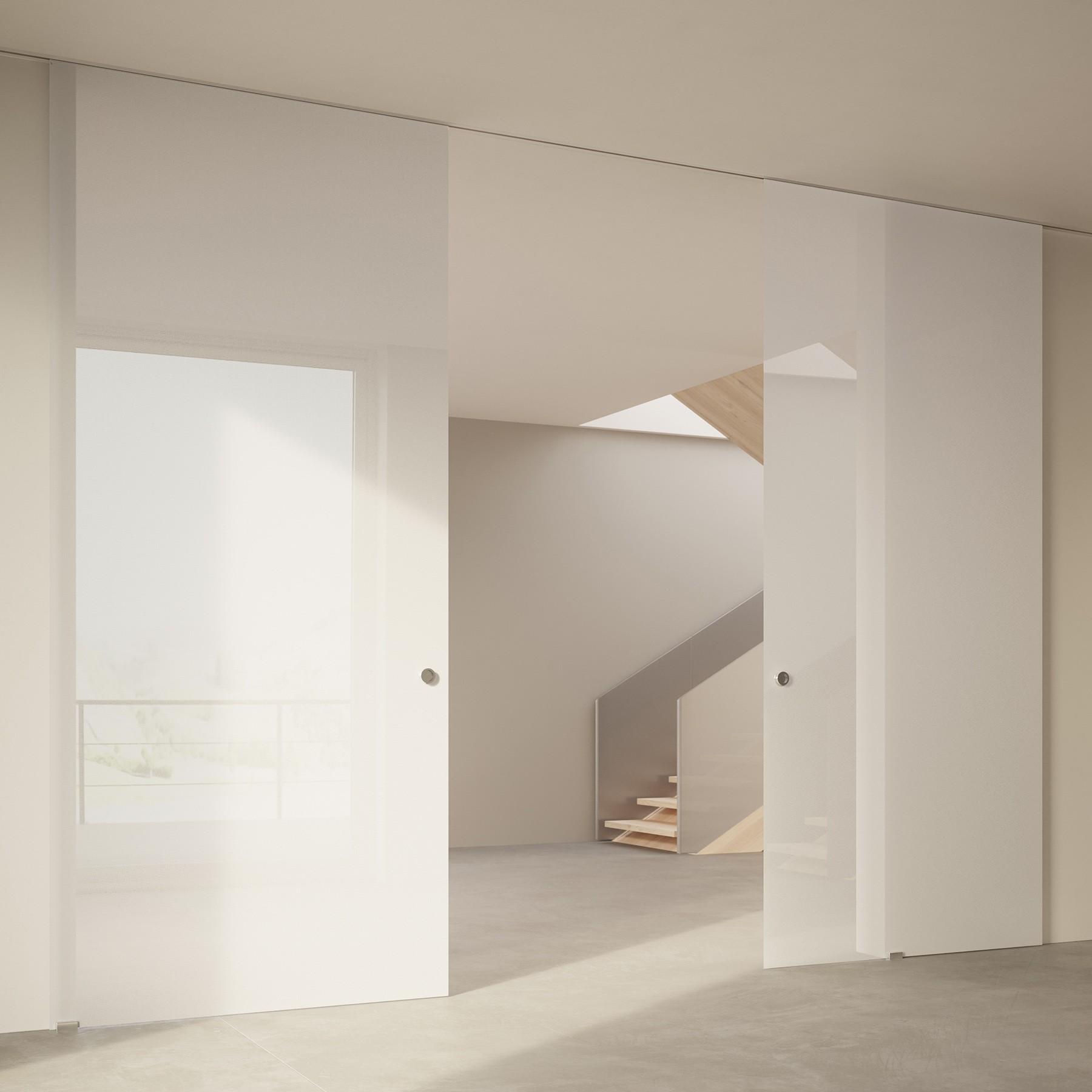 Scenario Visio Up with Textil Extrachiaro Bianco glass