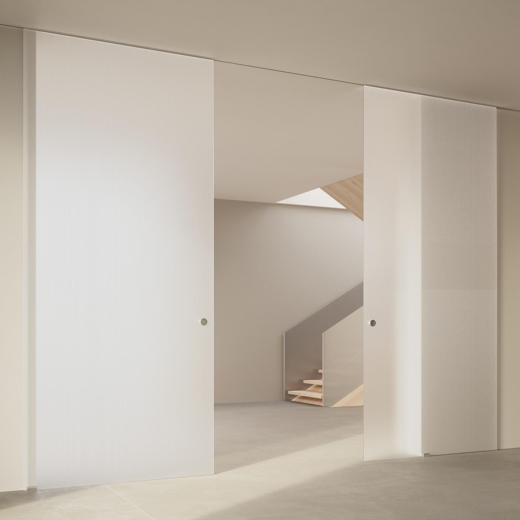Scenario Visio Up with Chillout Satinato Extrachiaro Bianco glass