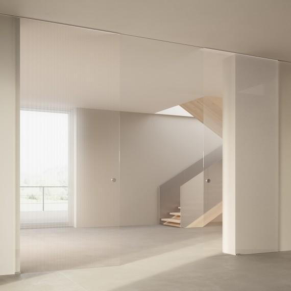 Scenario Visio Up with Chillout Trasparente Extrachiaro Bianco glass