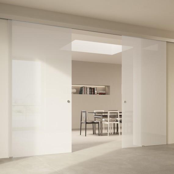 Scenario Visio with Textil Extrachiaro Bianco glass