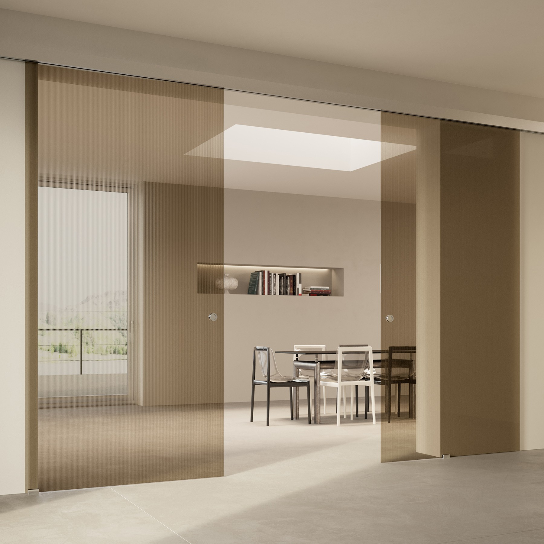 Scenario Visio with Chillout Trasparente Bronzo glass