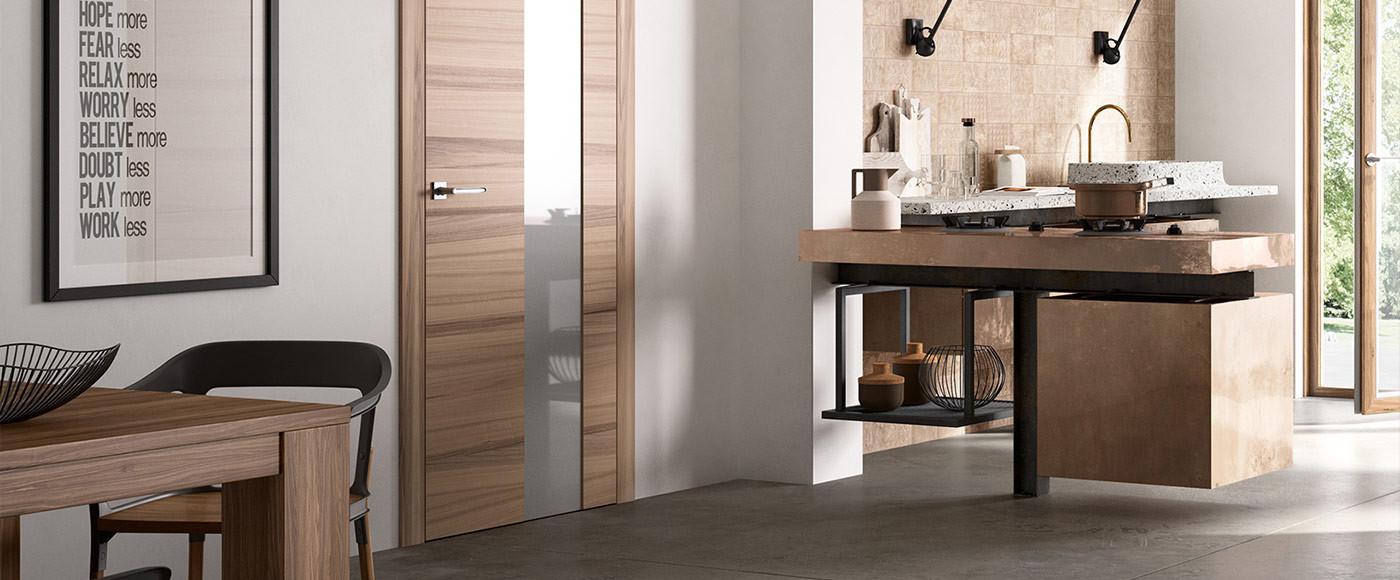 Porte Interne Moderne in Legno o Laccate - Exit - FerreroLegno