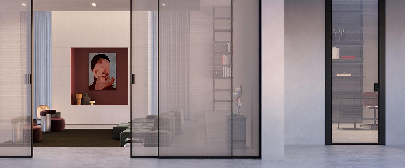 Porte Cristallo Alluminio - Cristal Frame/1 - FerreroLegno