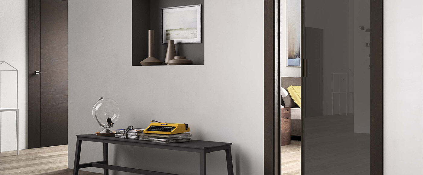 Porte Vetro Alluminio - Cristal Frame/3 - FerreroLegno