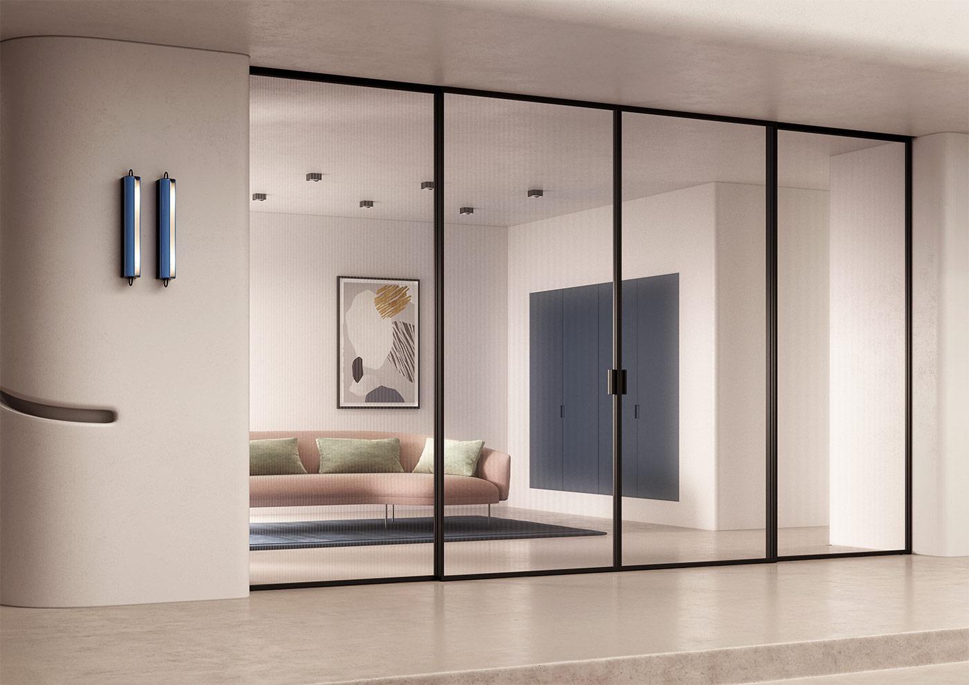 Las mejores puertas, incluso las de cristal son fabricados en Italia por FerreroLegno
